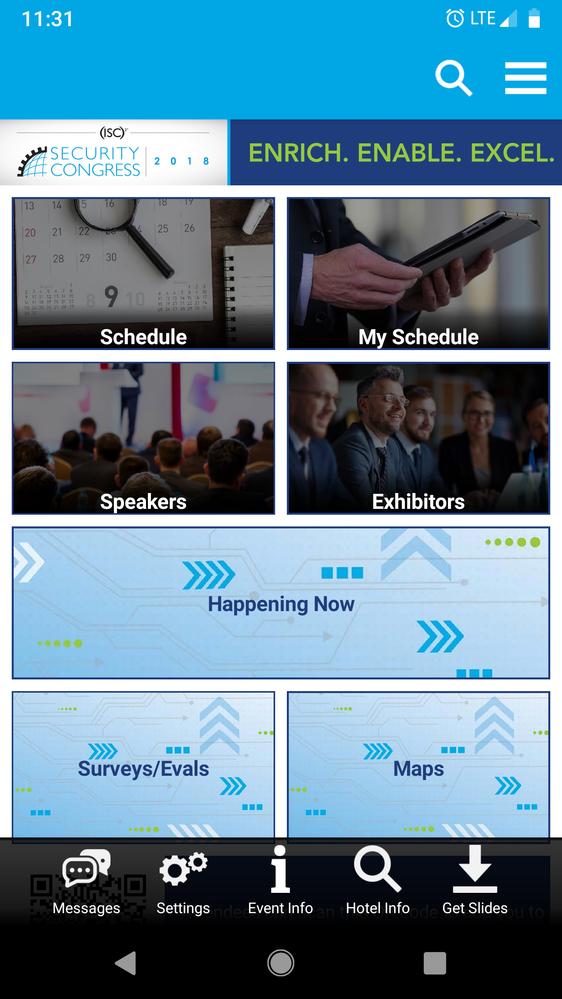 ISC2 Congress App Screen shot