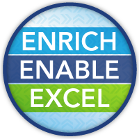 Enrich.  Enable. Excel. 2018