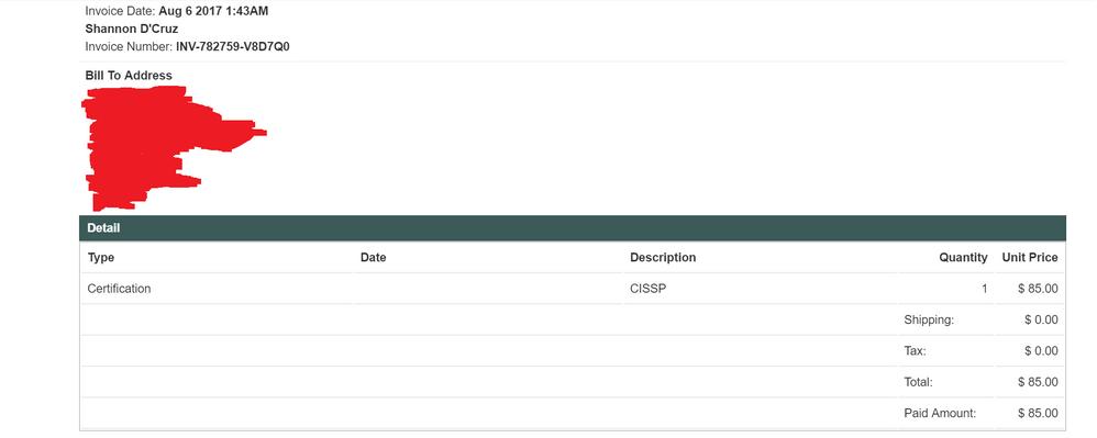 CISSP Purchase confirmation - 20170806.png