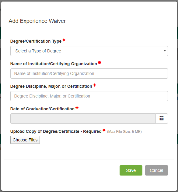 endorsement-application-experience-waiver.png